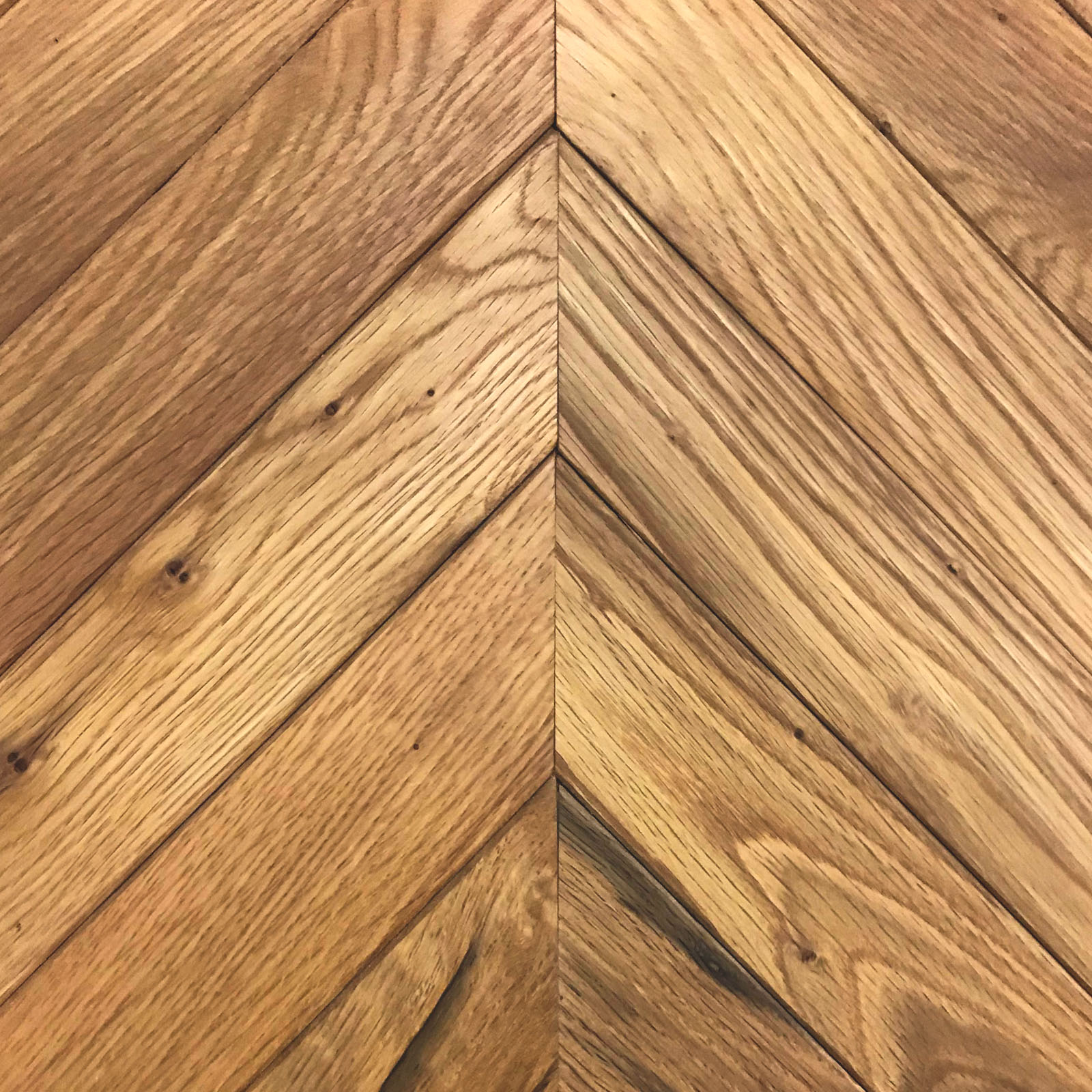Chevron Oak Wood Flooring - Wellborn + Wright